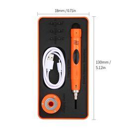 tapón de plástico impermeable Rebajas Kit de Destornilladores Eléctricos Meterk Mini Tipo de Destornillador Inalámbrico con 6 Unids Bits para la Reparación del Teléfono Móvil Torque Ajustable