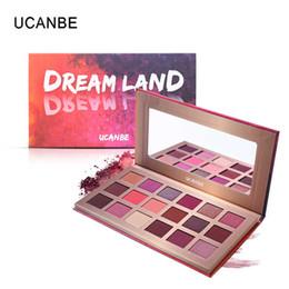 Sombra de olhos cor de rosa on-line-UCANBE Marca Shimmer Fosco Dreamland Eyeshadow Paleta de Maquiagem 18 Cor Roxa Pigmento Rosa Sombra de Olho Em Pó À Prova D 'Água Cosméticos