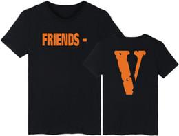 2019 magliette in tee originali Desgin uomo T-shirt-2019 di alta qualità VLONE originale FRIENDS V stampato donna uomo t shirt hip hop casual estate EDC cotone supera it magliette in tee originali economici