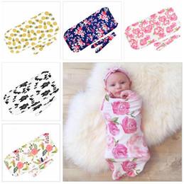 Babykleidung Mädchen Reizende Blumen Neugeborenen Baby Mädchen Schlafsäcke Decke Langarm Swaddle Wrap Outfit Cartoon Elefanten Nette Schlafsäcke
