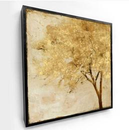 Commerci all'ingrosso libero 2019 una stampa a getto d'inchiostro dell'albero ricco astratto dorato di 1 PC di alluminio da