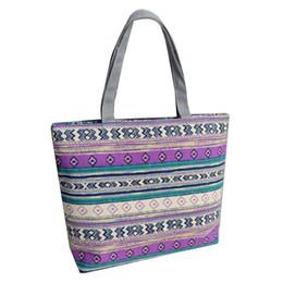 Éléphant à la mode rayé toile sac shopping femmes grande capacité fourre-tout épaule sac à main ? partir de fabricateur