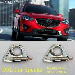 2019 señal de giro mazda ECAHAYAKU 1 par LED DRL luz para Mazda CX5 CX5 2012 2013 2014 2015 2016 con la cubierta de luz de niebla señal de giro señal de giro mazda baratos