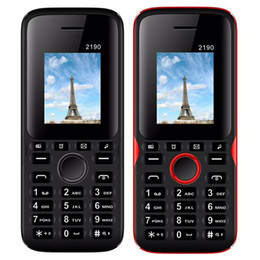 Разблокирована Мобильный телефон 2190 1,77-дюймовый QCIF Экран Dual SIM-карта Классический GSM Дешевые Мобильный телефон 2.0 Bluetooth-клавиатура кнопка телефона от
