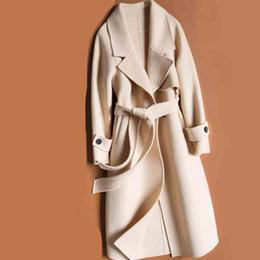 корейская одежда для зимы Скидка корейский стиль стиляги длинные женские пальто зимнее пальто женщин шерсти осени вскользь дамы вершины женской одежды падения 2019