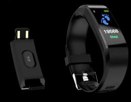 bluetooth armbänder armbänder Rabatt ID 115 PLUS Smart Watch tragbare IOS Android Intelligente Smart Watch Pulsuhr Blutdruck Fitness Tracker Smart Armbänder