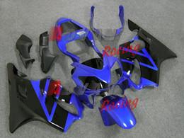 Carenados moldeados por inyección online-Nuevos kits de carenados de ABS de carrocería adecuados para HONDA Moldeado por inyección CBR 600 F4i FS 01 02 03 CBR600 2001 2002 2003 kits de carenado personalizados azul negro