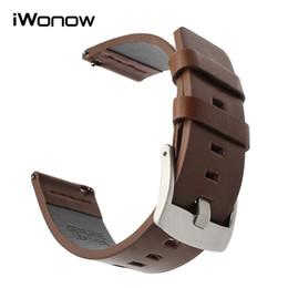 Faixas de relógio italiano on-line-Pulseira de couro oleosa italiana de 18mm para Withings Activit / Pop / aço HR 36mm correia de pulso da faixa de liberação rápida do estilo do LG Watch