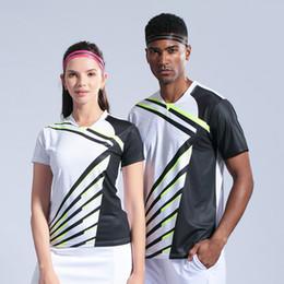 2019 hombres mujeres camisetas de bádminton camisetas tenis de mesa transpirable tenis ropa deportiva camiseta atlética camisas de secado rápido desde fabricantes