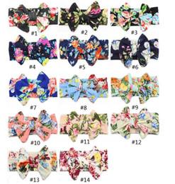2019 headbands da forma para bebês Meninas Bowknot hairbands Baby Floral Impresso headbands Elástico de Algodão Headband Bohemia Headwear Envoltório Acessórios de Moda GGA2011 desconto headbands da forma para bebês