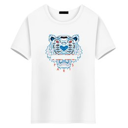 Майка тигр моды онлайн-модные роскошные топы дизайнер футболки для мужчин тигровый глаз крокодил акула север футболка женская футболка мужская одежда футболки с коротким рукавом