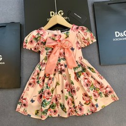 Principessa gonne occidentale online-Le ragazze vestono l'usura di estate L'abbigliamento dei bambini di stile europeo e americano I bambini di stile occidentale Pure Cotton Baby Princess Skirt 0509