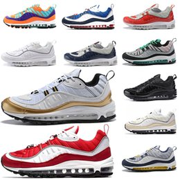 b65e39f98aba Maxes OG QS 98 98s New Cushion Gundam Tour White Men Womens Running Shoes  Red Trainers Breathable Athletic Outdoor Sport Sneakers Casual max shoes on  sale