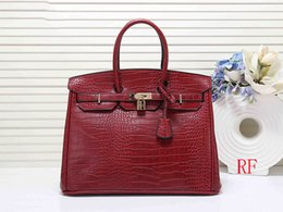 2019 tote geldbeutelmuster Designer Handtaschen Alligator Muster Frauen Designer Handtaschen 35cm 30cm große Kapazität H Mode Tote Handtasche Tasche günstig tote geldbeutelmuster