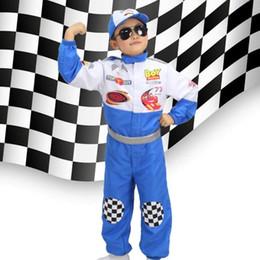 Kids Car Driver Role Playset Driver da corsa per bambini Costume da capodanno per ragazzi Driver Costume Fancy Dress Boy 90-150cm da maglia di pelli fornitori