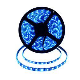 Luci al neon blu online-5050 Led Nastro RGB Strip Light Impermeabile DC 12V 5M 300 Led Strips Flessibile Strip Lights Neon Ribbon Warm Bianco / Blu / RGBW