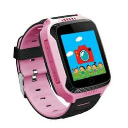 Berührungs-taschenlampe online-Q528 Smart Child Watch Touchscreen GPS Tracker SOS für Hilfe Anti verloren Monitor Anruf Armbanduhr mit Taschenlampe Neujahr