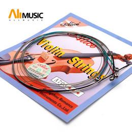 Alice A703 Cordas de Violino Núcleo de Aço Super Leve Conjunto para 1/8 4/4 Tamanho Violino 4 pçs / set Top Qualidade MU0259-T de Fornecedores de cordas de violão de qualidade