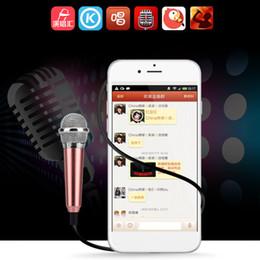 Sıcak Satmak MINI Jack 3.5mm Studio Yaka Profesyonel Mikrofon El Mic Cep Telefonu Bilgisayar Için iPhone Samsung Karaoke Için nereden gizli güvenlik kameraları sesi tedarikçiler