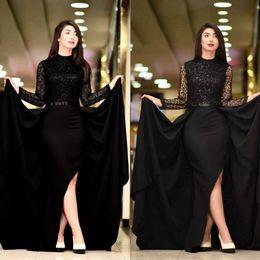 Trem vestido bodycon on-line-Dubai Elegante 2 Peças Vestidos Casuais Nova Sereia Vestidos de Noiva Partido Personalizado Com Trem Destacável Best Selling Moda Vestido Romântico