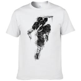 Cool Ink Peinture Ninja Samurai Imprimé T-shirt D'été De Mode À Manches Courtes Hommes Anime T Chemises Style Japonais Coton Tees # 111 ? partir de fabricateur