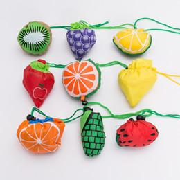 Nouveaux fruits mignons empreintes pliantes réutilisables sacs à provisions occasionnels multicolore épicerie sac shopping pastèque fraise Eco Tote Pouch ? partir de fabricateur