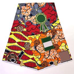 Verdadera impresión de cera real online-2019 El último diseño Ankara Tela de impresión de cera africana Hollandais Tela de cera holandesa 6 Yardas Rojo Veritable Real Hollandais SP113