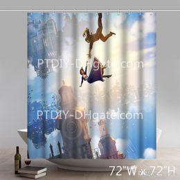 2019 disegni su misura Tenda da doccia impermeabile decorativa decorativa progettata del tessuto del poliestere di Bioshock disegni su misura economici