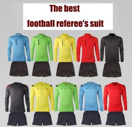 4b1cfe0f8 New various styles football referee suit judge wear short long sleeves men  women s match solid color football referee kit