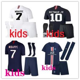 PSG Kids footbal kits 2019 2020 MBAPPE CAVANI camiseta de fútbol casa 19 20 maillot de foot Niños jóvenes kits de fútbol de París desde fabricantes