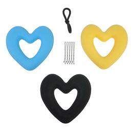 Fabricante de la venda online-3 UNID Cabello Donut Bun Heart Maker Hot Magic Espuma Esponja Headwear Disco Dispositivo de Cabello Moño Updo Diademas Acces Hair Tool