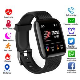 2019 relógios inteligentes i5 Pressão D13 relógio inteligente Pulseira Sports Academia de sangue Heart Rate Chamada mensagem de lembrete pedômetro 116 Além disso relógio inteligente