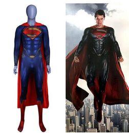 zentai superman trajes Rebajas Anime Superman: Man of Steel 2 Clark Kent Cosplay Disfraces Superhéroe Superman Niños Adultos Zentai Monos Capa Traje