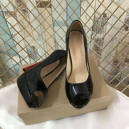 2019 talons en gros Lady Dress Talons Hauts Peep Toes Sandale Chaussures Marque Fahion De Luxe Bas Rouge Talons Hauts Chaussures En Gros promotion talons en gros