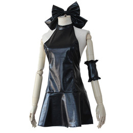 Destino ficar noite cosplay on-line-Fate / Stay Night Anime Fate Zero Saber Lily Maiô Natação Cosplay vestido de festa Arturia Pendragon Black Dress Halloween