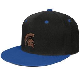 Tapa plana de leopardo online-Michigan State Spartans fútbol Logotipo de Leopard Print Azul para hombres y mujeres camionero de ala plana gorra de diseño diseñador personalizado moda deportiva base