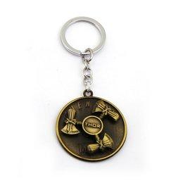 Porte-clé thor en Ligne-Les Vengeurs 4 Thor Porte-clés Stormbreaker Rotation Porte-clés Voiture Pendentif Porte-clés Film Bijoux Porte-clés