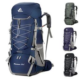 Новый 75L большой мужской и женский рюкзак открытый кемпинг туризм тактика походы водонепроницаемый многофункциональный спортивная сумка большой емкости от