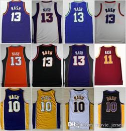 NCAA Basketball Phoenix 13 Steve Nash Jersey Suns 10 Men Santa Clara  Broncos  11 College Jerseys Sport Purple BLue White Yellow 0f401951e