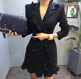 2019 vestiti blaser Blazer Giacche per le donne Moda Suit Donne Blazer  Workwear Ruffle Office Ladies 058c6929100