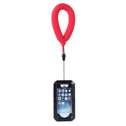 2019 casos flotantes Correa flotante de nylon Anillo de natación Correa de muñeca Anillo de deriva para cajas de teléfonos inteligentes de Moblie Phone Camera casos flotantes baratos