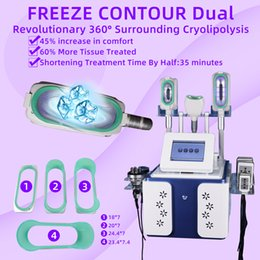 cryo laser Promo Codes - 5 In 1 Cryotherapy Fat Freeze Slimming Machine Cryolipolysis Fat Freezing RF Lifting Laser Liposuction Machines With Three 360° Cryo Handles
