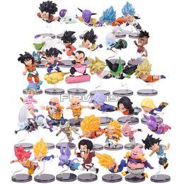 personagens dragon ball z Desconto Dragon Ball Z Os personagens históricos Series 1 ~ 6 Son Goku Bulma Mestre Roshi Krillin PVC figuras colecionáveis Brinquedos 6pcs / set