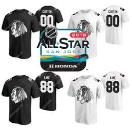 2019 camisa de 88 t 88 Patrick Kane 2019 All-Star Chicago Blackhawks t-shirt Duncan Keith Jonathan Toews Corey Crawford Alex DeBrincat Brandon Saad Afiado camisa de 88 t barato