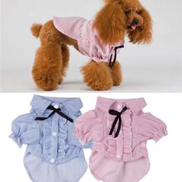 2019 pelucas extra grandes Correas de mascotas Camisetas Camisas de perro de mascota con volantes Tops Ropa para perros de mascota para mascotas Drop Ship 360041