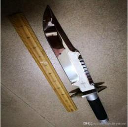 Canada Rare!!! Coutume tactique de survie Combat Interceptor chasse Chasse Bowie D2 acier couteaux à lame en plein air Champ Sprots Randonnée Engrenage outil nouvel Offre