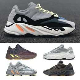 pvc snow shoes Coupons - 700 Runner Kanye West Wave Runner Mauve Static Inertia Running Shoes Mens Women Athletic Sport Shoes Trainer Sneakers Shoes Eur 36-46
