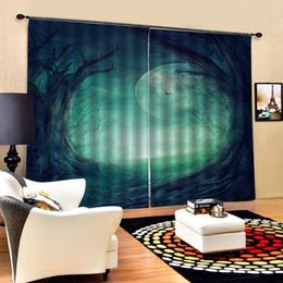 2019 vorhang falten stile grüner Vorhang Wald Sonnenschein Vorhang Büro Schlafzimmer 3D Fenster Luxus Wohnzimmer schmücken Cortina