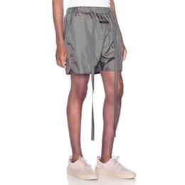 justin ceintures Promotion 19ss Dernier style de brouillard Justin Bieber Vintage Short ceinturé noir HipHop Lâche coton Sweat Short Streetwear Mode Coton S-XL