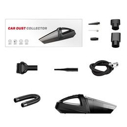 Medidores de pressão de vácuo on-line-4-em-1 Car Handheld Vacuum Cleaner Com Ponteiro Do Pneu Inflator Medidor De Pressão Da Bomba Led Light Vacuum Cleaner Para Casa Auto Car
